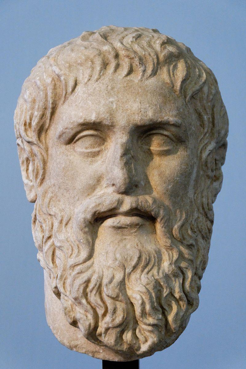 Platon. Marmura fina, copie a portretului executat de Silanion pentru Academia din Atena in jurul anului 370 inainte de Christos. Sursa Wikipedia.