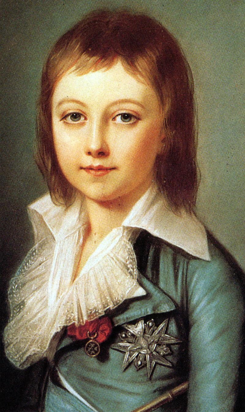 Ludovic XVII, rege al Franţei şi al Navarrei. Pictură de Alexander Kucharsky. Palatul Versailles.