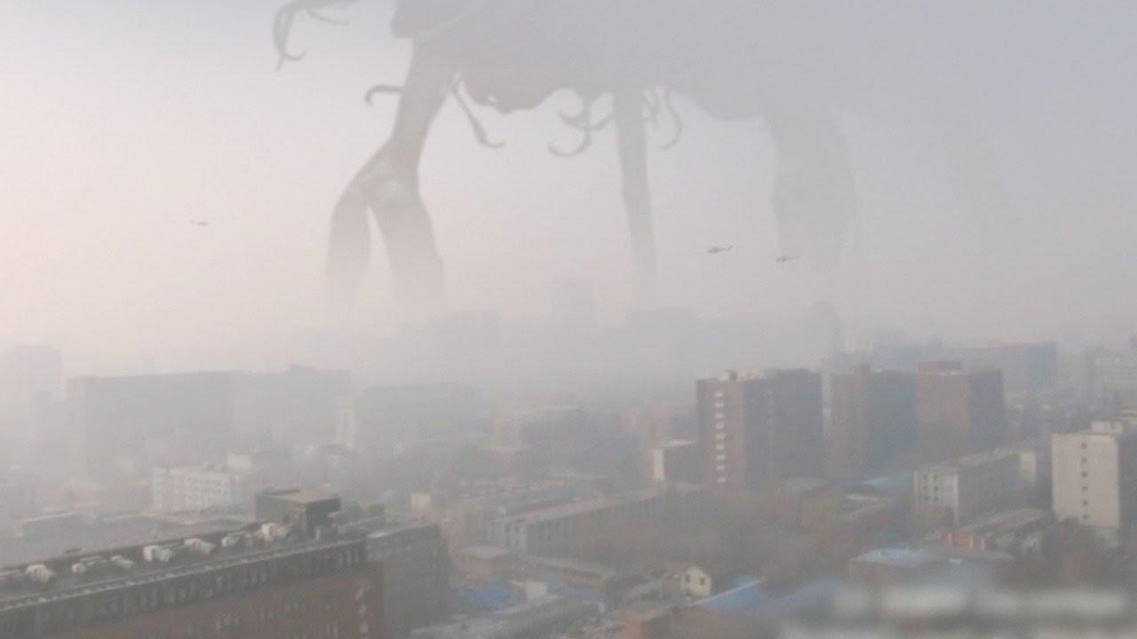 Navă extraterestră imensă stranie la Beijing